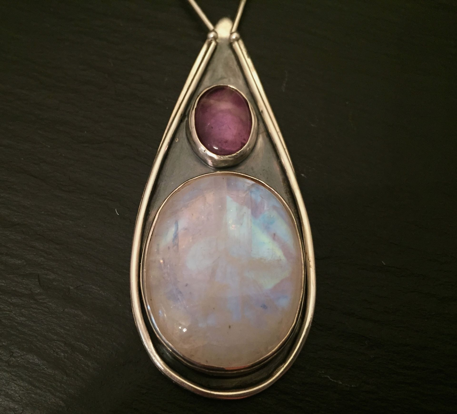 necklace healing stone moon product pendant munay arts amazonite moonstone